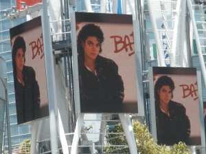 Outside Michael Jackson's Memorial Service